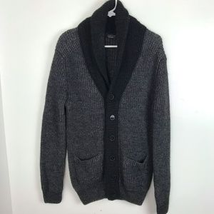 Zara Man Thick Wool Blend Cardigan